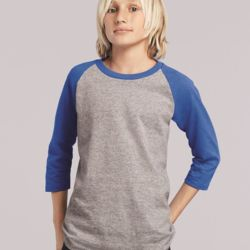 5700B Youth Heavy Cotton Raglan Tee Thumbnail
