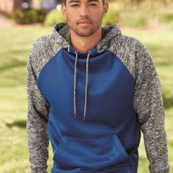 8612 Adult Colorblock Cosmic Fleece Hooded Pullover Sweatshirt Thumbnail